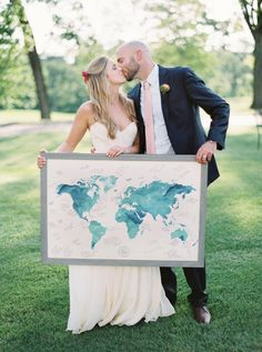 map guest book - photo by Untamed Heart Photography http://ruffledblog.com/pink-watercolor-country-club-wedding