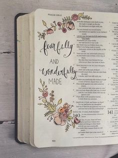 fearfully and wonderfully made Bible Journaling ängstlich und wunderbar gemacht Bible Journaling Source by . Scripture Art, Bible Art, Bible Quotes, Scripture Lettering, Journaling, La Sainte Bible, Bibel Journal, Life Quotes Love, Illustrated Faith