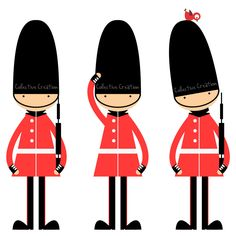 Queen's Guards Digital Clipart Clip Art for by CollectiveCreation