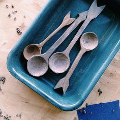 wooden spoons.  Design*Sponge | Studio Tour: Amelie Mancini