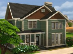 This house have 4 bedrooms and 2 bathrooms, it is 2 stories with a backyard. Found in TSR Category 'Sims 4 Residential Lots' Sims 2 House, Sims 4 House Plans, Sims 4 House Building, Sims 4 House Design, Sims 4 Houses Layout, House Layouts, Maxis, Sims 4 Stories, Sims 4 Family