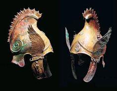 Phrygian-Chalcidian bronze winged helmet, 4th century BCE