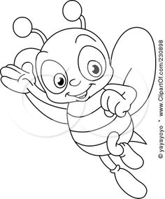 cute bee coloring pages - Google Search - For the older kids that may be coming