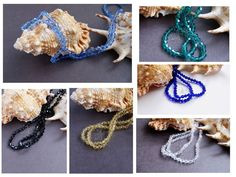 Bicone Glass beads 4 mm crystal black cobalt by CreativeRoomKartA