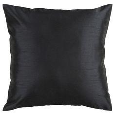 Decor 140 Throw Pillow Cover - 18'' x 18'', Black
