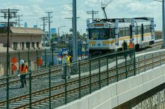 L.A. LRV being tested on new light rail line