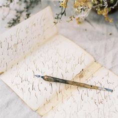 calligraphy + paper goods: @bohoink