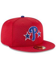 New Era Philadelphia Phillies Retro Classic Batting Practice 59FIFTY Fitted  Cap - Red 7 1  0538b922f5b9