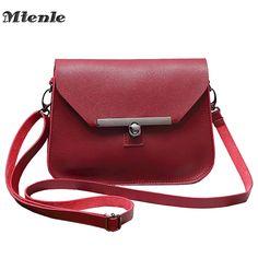 78cb1b46c981 MTENLE Small Women Messenger Bag Simple Designer PU Leather Crossbody Bag  Ladies Hasp Lock Flap Female Bags Bolsas Femininas FI