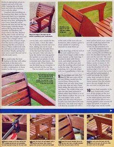 Garden Lounger Plans - Outdoor Furniture Plans