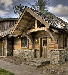 Big Wood Timber Frames – Gull Lake Retreat Tiny House Cabin, Log Cabin Homes, Cottage Homes, Chalets, Rustic Exterior, Timber House, Cabins And Cottages, Cabin Design, Cabin Plans