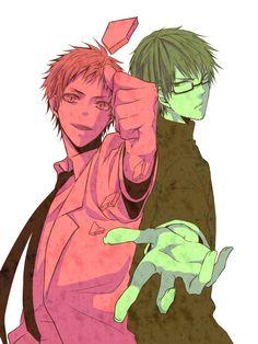 Seijuro Akashi and Shintaro Midorima