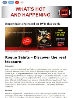 Check out this weeks Brettian Productions newsletter - Rogue Saints, Hartsbegeertes, LiG-WeG and more!