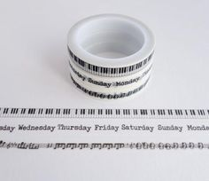 Music and Days of the Week - Mini Washi Tape - Set of 3 Rolls