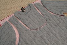 recycled sweater bag by perched on a whim, via Flickr