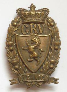Galloway Rifle Volunteers Victorian OR's glengarry badge circa 1883-1901