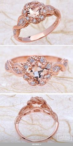 24 Morganite Engagement Rings We Are Obsessed With ❤ Morganite engagement ring will be wonderful choices and your girl will be have unusual and gorgeous ring. See more: http://www.weddingforward.com/morganite-engagement-rings/ #wedding #engagement #rings