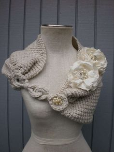 This modern bridal shrug comes from Etsy's denizy03