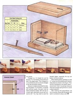 #2375 Exploding Coin Bank Plans - Woodworking Plans