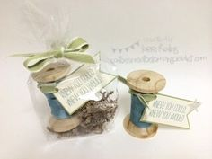 Spring Extravaganza! :: Confessions of a Stamping Addict Lorri Heiling Ribbon on Old Spool Project
