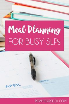 Want to stay healthy buy just can't find the time? Hate making meal plans? Read about a tool that this SLP uses to make meal planning EASY!