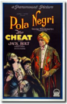 """The Cheat (1923) is a silent film produced by Famous Players-Lasky and distributed by Paramount Pictures, and is a remake of Cecil B. DeMille's 1915 hit feature using the same script by Hector Turnbull and Jeanie MacPherson. This version stars Pola Negri and was directed by George Fitzmaurice.  Poster measures 18 x 24"""" and , as always, free shipping included."""