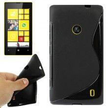 Custodia Lumia 520 - Gel Sline Nero  € 3,99