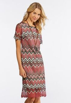 7e8192bf7b56 Cato Fashions Lacy Chevron Midi Dress #CatoFashions Your Style, Chevron,  Short Sleeve Dresses