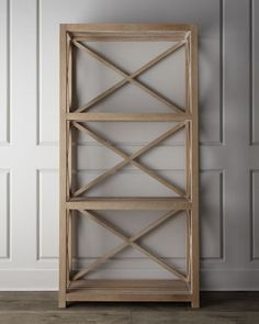 "Lauren Ralph Lauren ""Saugatuck"" Shelves - Neiman Marcus - I would love this bookshelf with some metal baskets and organizers for a mixed industrial look."