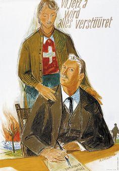 Alois Carigiet, Steuern, 1944 Vintage Travel Posters, Switzerland, Photo S, Princess Zelda, History, Hans Christian, Fictional Characters, Advertising, Movies