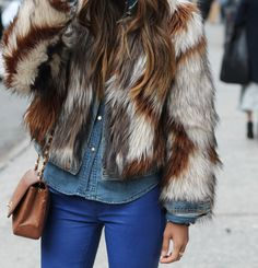 fur-vintage or faux is a must have!