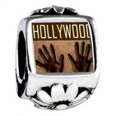 Travel Hollywood Photo Flower Charms  pandora style