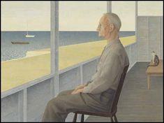 Man on verandah by David Alexander Colville