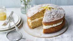 Mary berry Apple cake with lemon cream Apple Sponge Cake, Sponge Cake Recipes, Apple Cake Recipes, Baking Recipes, Apple Cakes, Apple Desserts, Dessert Recipes, Apple Sandwich, Sandwich Cake