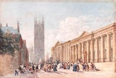 Enlarged Picture: Watercolour - St Mary's Church and County Hall, Warwick - Birmingham Museums & Art Gallery Information Centre