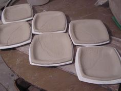 Use paper plates as templates for slab built plates. From Fine Mess Pottery.
