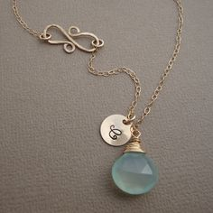 Chalcedony Necklace and Infinity Hammered Pendant all by lizix26