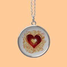 Love Ornamental Heart Custom Jewelry