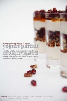 Honey, Pom, + Pecan YogurtParfait