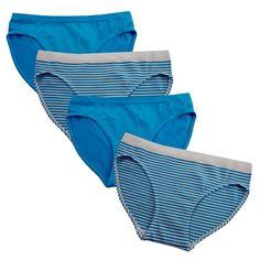 5bb890362ac67 Girl Seamless Underwear Bikini Panties for Girls - 2 Pack or 4 Pack - Blue  Jewel - CQ18CNERYXM
