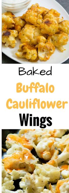 Can't wait to try these Baked Buffalo Cauliflower Wings in place of chicken wings.