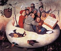 Concert in the Egg - (follower of) Hieronymus Bosch Yearca.1561 Typeoil on canvas Dimensions108 cm × 126.5 cm (43 in × 49.8 in) LocationPalais des Beaux-Arts de Lille
