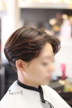 여자 직모머리 숏컷스타일 수습하기! 볼륨매직+디지털펌 : 네이버 블로그
