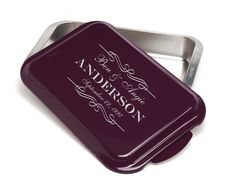 Engraved 9 x 13 Aluminum Cake Pan 7 Color by Engravablecreations, $27.95
