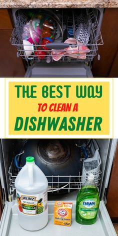 Clean your dish washer with this amazing method. It will remove grease, lime scale and any Build up on the inside plus make your dish washer smell amazing. #cleaning #cleaninghacks #householdhacks #cleaningtips #householdtips #dishwasher