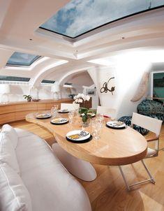 Interior by Jepsen Designs for John Shuttleworth's trimaran Adastra