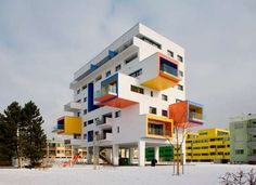 Salzburg's Lanserhofwiese is Colorfully Playful #architecture trendhunter.com