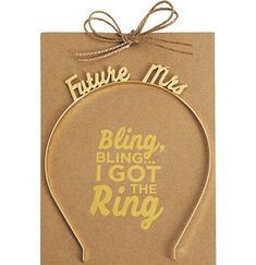 Gold Future Mrs Headband - Bachelorette Party Supplies