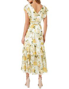 Forever New   Tiffany Wrap Midi Dress   MYER Printed Bridesmaid Dresses, Midi Length Skirts, Nude Heels, Forever New, Summer Dresses For Women, Cotton Dresses, Tiffany, Bodice, Wrap Dress