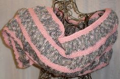 Hand Knit Wool Mohair Rose & Sage Ruched Wrap, Stole, Scarf OOAK by knitme1, $68.00